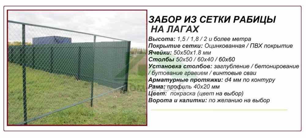 Забор рабица монтаж своими руками 202